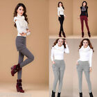 Winter Womens Oversized Warm Thicken Fleece Cotton Pants Pocket Shorts+Trousers