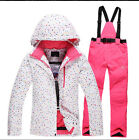 Women girls waterproof winter ski snow jacket coat pants snowboard snowsuit set