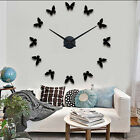 MAX3 Wall Clock Btterfly Large Home Decor Watch Modern Designs Roman Sitckers