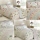 Country Cottage Floral Duvet Cover Rise And Shine Roses Vintage Quilt Set