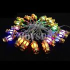 110~240V 5M/16.4ft 20leds Golden/Silver RGB Lantern String Light for Xmas Party