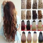 Long Clip in Hair Piece Extensons Half Head Heat Resistant feels real Curly