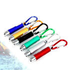 3in1 Aluminium LED Torch Laser UV Light Mini Pocket KeyRing Detection Pen