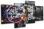 Edinburgh Typography City MULTI CANVAS WALL ART Picture Print