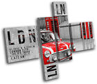 London Typography City MULTI CANVAS WALL ART Picture Print