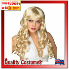 Womens Wig 1970 70s Long Blonde Curly Maryilyn Glamour Groovy Disco Queen