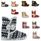 LADIES DUNLOP SLIPPERS BOOTS NEW WOMENS ANKLE WINTER WARM FUR SNOW BOOTIES SIZE