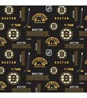 BOSTON BRUINS NHL HOCKEY 100% COTTON FABRIC MATERIAL CRAFTS BY THE 1/2 YARD