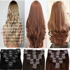 Curly Straight Hair Extensions Extentions Full Head OR Half head Synthetic