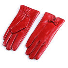 New Women's Touchscreen Texting Winter Warm Driving Leather Gloves Cut Bow
