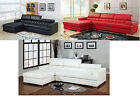 Coetaneous Living Room Furniture Sectional Sofa in 3 Colors Black Red & White
