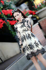 Korean Style Causel Long Sleeve Lady Dress Embroidered Lace Autumn F450 Floral