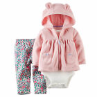Carters 6 12 Months Cardigan Floral Pants Bodysuit Set Baby Girl Clothes Hoodie