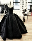 Black Quinceanera Gothic Dresses Formal Evening Prom Gown Wedding Party Dress