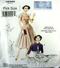 Vogue Sewing Pattern 8999 Vintage Model 50s Full Gored Dress Bolero Pick Size