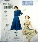 Vogue Sewing Pattern 8974 Ladies Vintage Model 40s Sun Dress Jacket Pick size