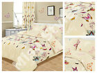 BUTTERFLY DUVET QUILT COVER BEDDING SET WITH PILLOWCASE ~ SINGLE ~ DOUBLE ~ KING