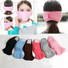 Women Winter Cycling Anti-Dust Cotton Mouth Face Mask Earmuff Ear Warmers Cover