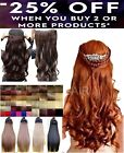 "Ginger 24"" Professional HAIR EXTENTION half head one piece 5 CLIP UK Super value"