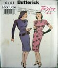 Butterick Sewing Pattern 6461 Retro Ladies 40s War Years Vamp Dress Pick Size