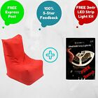 Indoor / Outdoor Weatherproof BeanBag 'Deck Chair' + FREE 3m LED Strip Light Kit