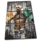 Connor McGregor UFC Grunge Sports TREBLE CANVAS WALL ART Picture Print