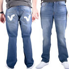 Voi Jeans Norton Swirl Mens Jeans New Light Wash Blue Designer Branded Trousers