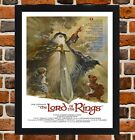 Framed The Lord of the Rings Movie Poster A4 / A3 Size In Black / White Frame