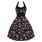 Gothic Victorian Steampunk Vintage 50s Rockabilly Halloween Halter Dress