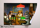 DOGS PLAYING POKER GIANT WALL ART POSTER A0 A1 A2 A3