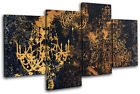 Grunge Vintage Retro Chandelier Abstract MULTI CANVAS WALL ART Picture Print