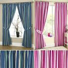 Denton Curtains Stripe Ready Made Pair Lined Pencil Pleat