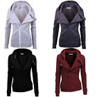 Eskaay Womens Zip Up Long Sleeve Hoodie Sweatshirt Jumper Coat Jacket Top Shirt