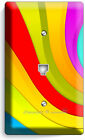 COLORFUL SWIRLY RAINBOW LIGHT SWITCH WALL PLATE OUTLET KIDS BEDROOM ROOM DECOR