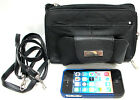 ON SALE Leather Organizer Purse Hold IPhone 5 C/C Long Shoulder Strap Black, Red