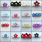 PEARL SATIN POINSETTIA ROSE HAIR COMB WEDDING BRIDESMAID CHILDS FLOWER GIRL