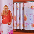 DISNEY NET CURTAINS SOLD BY THE METRE WITH WRINKLING TAPE AND WHITE PIPING