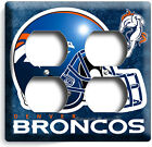 DENVER BRONCOS FOOTBALL TEAM LIGHT SWITCH WALL PLATE OUTLET BOYS ROOM MAN CAVE