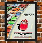 Framed Ferris Bueller's Day Off Movie Poster A4 / A3 Size In Black / White Frame