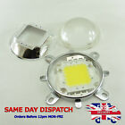 Set 100W Cold / Warm White LED and 58mm Glass Lens + Reflector +Bracket #G03+A41