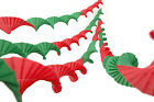 4 VINTAGE RETRO STYLE NEW SUPERIOR CREPE PAPER CHRISTMAS PARTY DECORATIONS(r&g)