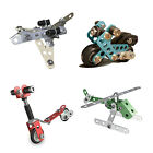 Meccano Real Metal Starter Construction Set - Motorcycle Racecar Jet Scooter