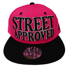 Baseball State Property Street Approved Pink Black Flatpeak Snapback Cap Hat