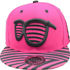 Baseball State Property Shades Pink Black Adjustable Snapback Flat Peak Hat Cap