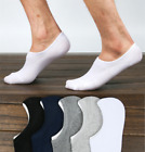10 Pairs Mens Invisible Nonslip Casual No Show Solid Boat Cotton Socks Low Cut