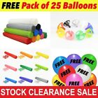 Party Balloon Sticks and Cups No Helium Choose 11 Colour & Quantity ballon