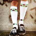 Skater Socken by Spirit of 76 | Mosaic Series | the green Blacks on white Hi
