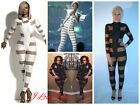 Celebrity Inspired Mesh Panel High Neck Unitard Size 12UK/8USA/40EU