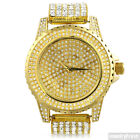 Gold Finish Crystal Iced Out Sport Watch For Men or Women