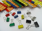 25mm Foldback Bulldog Binder Clips Single Coloured and Assorted Packs of x10